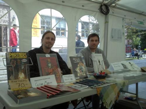 The very spot - Oslo Comic Expo 2012 - where Outré was conceived.